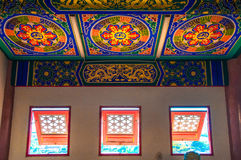 Interior of Chinese temple Royalty Free Stock Photos