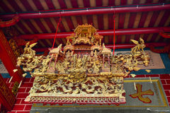 Interior of Chinese temple Royalty Free Stock Images