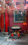 Interior of Chinese temple Stock Images