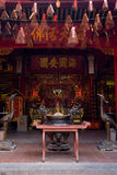 Interior of Chinese temple in Vietnam Stock Photos