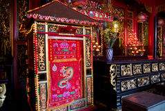 Interior of Chinese temple in Vietnam Stock Images
