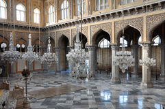 Interior of Chowmahalla Palace. It was the seat of the Asaf Jahi dynasty and was the official residence of the Nizams of Hyderabad Royalty Free Stock Image
