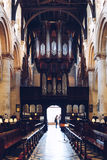 Interior of Christ Church Cathedral, Oxford. Royalty Free Stock Photography