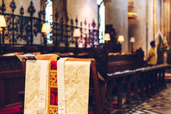 Interior of Christ Church Cathedral, Oxford, UK. Royalty Free Stock Photos