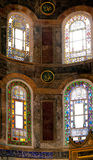Interior of Christian church museum of Ai Sofia in Istanbul Stock Photography