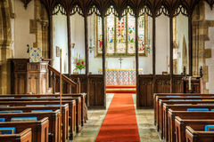 Interior of a Christian Church Stock Images