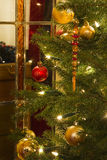 Interior with christmas tree Stock Photography