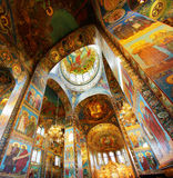 Interior of the Church. Of the Savior on Spilled Blood in St. Petersburg, Russia Stock Photos