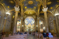 The interior of  the Church of All Nations  in Jerusalem Royalty Free Stock Images