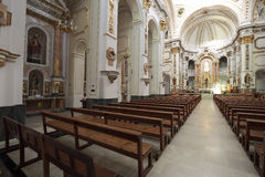 Interior of Church of Altea Stock Images