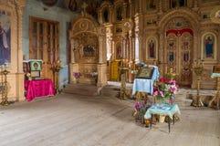 Interior of the Church of the Archangel Michael. The village of Big Ignatovo, Republic of Mordovia Stock Photography
