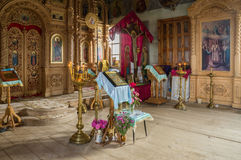 Interior of the Church of the Archangel Michael. The village of Big Ignatovo, Republic of Mordovia Royalty Free Stock Photography