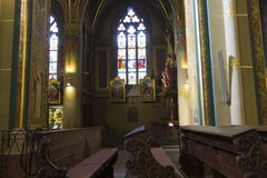 Interior of the Church (Basilica) of St Peter and St Paul at Vysehrad Royalty Free Stock Images