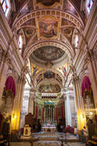 Interior of church at Citadel -  town Victoria, Gogo - Malta Royalty Free Stock Image