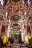 Interior of church at Citadel -  town Victoria, Gogo - Malta. VICTORIA, MALTA - JULY 19: Interior of church at Citadel on July 19, 2015 in Victoria Royalty Free Stock Image
