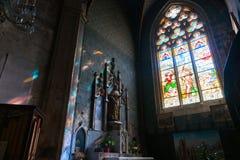 Interior church Collegiate Church of Saint-Étienne Royalty Free Stock Photos