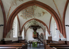 Interior of church Den Andel Royalty Free Stock Photos