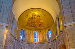 The Interior of the church of Dormition Abbey Stock Photography