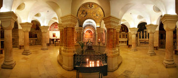 Interior of Church of Dormition in Jerusalem. Stock Image