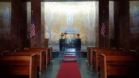 The interior of the church of the Florence American Cemetery and Memorial, Florence, Tuscany, Italy stock photo