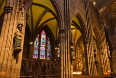 Interior of church Freiburg Muenster, Germany Stock Photos
