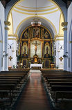 Interior of the church of frigiliana Royalty Free Stock Photography