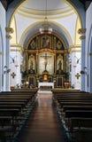 Interior of the church of frigiliana Royalty Free Stock Photography