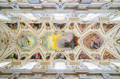 Interior of the Church of the Gesu in Palermo, Sicily, Italy. stock images