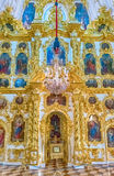 Interior of the Church of Grand Palace in Peterhof, Russia Royalty Free Stock Image