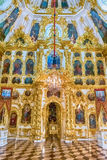 Interior of the Church of Grand Palace in Peterhof, Russia Stock Photography