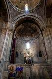 The interior of the church Grigor Lusavorich in the Gosh. Royalty Free Stock Photography