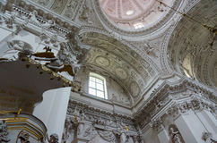 Interior of church of Holy Apostles Peter and Paul, Vilnius Royalty Free Stock Photography