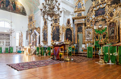 Interior of the Church of the Holy Face in the village Mlevo Stock Photography