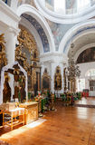 Interior of the Church of the Holy Face in the village Mlevo Royalty Free Stock Photography