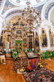Interior of the Church of the Holy Face in the village Mlevo Stock Images