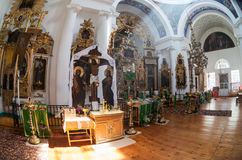 Interior of the Church of the Holy Face in the village Mlevo Royalty Free Stock Image
