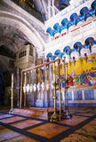 Interior of the Church of Holy Sepulcher Royalty Free Stock Photography