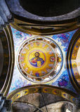 Interior of the Church of the Holy Sepulcher Royalty Free Stock Photos
