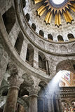 Interior of the Church of the Holy Sepulchre Royalty Free Stock Photos