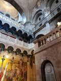 Interior of the Church of the Holy Sepulchre in the Old Town of Jerusalem, Israel. Interior view of the Church of the Holy Sepulchre in the Old Town of Jerusalem stock photos