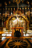 Interior of the Church of the Holy Sepulchre Stock Photo