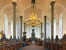 Interior of the Church of Holy Trinity in Kristianstad, Sweden Stock Images