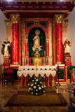 Interior of church in Ibiza, Spain Royalty Free Stock Photo
