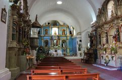 Interior of the Church of the Immaculate Conception in Yanque, C stock photos