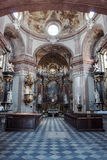 The interior of the church in Kromeriz Royalty Free Stock Photography
