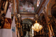 Interior in the church in Lvov Royalty Free Stock Photos