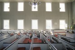 The interior of a church in New England Royalty Free Stock Photo