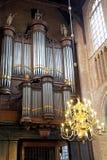 Interior of church Nieuwe Kerk in Delft, Netherlands Stock Photos