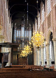 Interior of church Nieuwe Kerk in Delft, Netherlands Stock Image