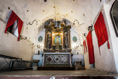 The interior of the church of Our Leady of Remedy in the old tow Royalty Free Stock Photo